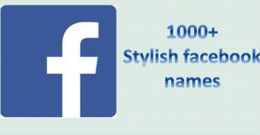 stylish facebook profile names