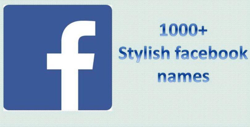 stylish facebook profile names