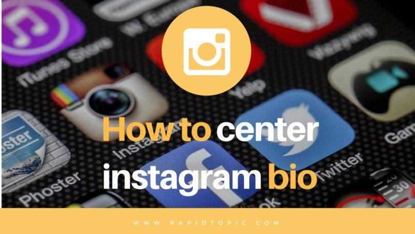How to center instagram bio