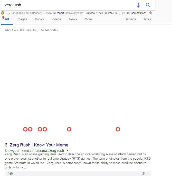 zerg rush google game