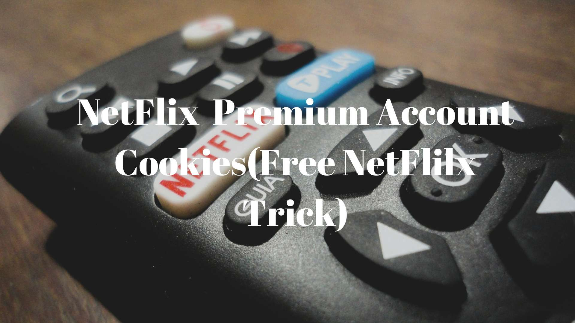 NetFlix Premium Account Cookies